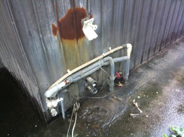 半田市 ガス給湯器 交換工事 撤去後