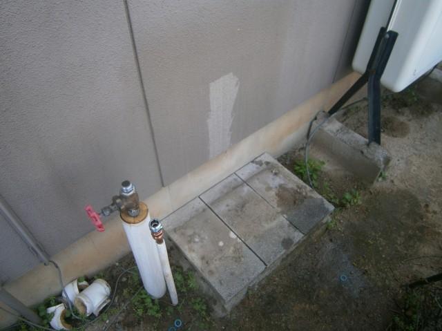 豊川市 石油給湯器取替工事 撤去後