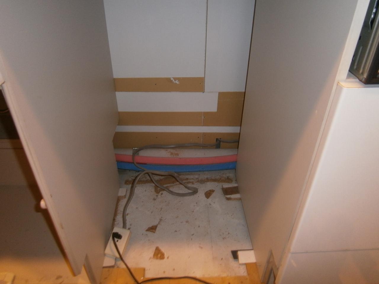 長久手市 食洗器取付工事 撤去後