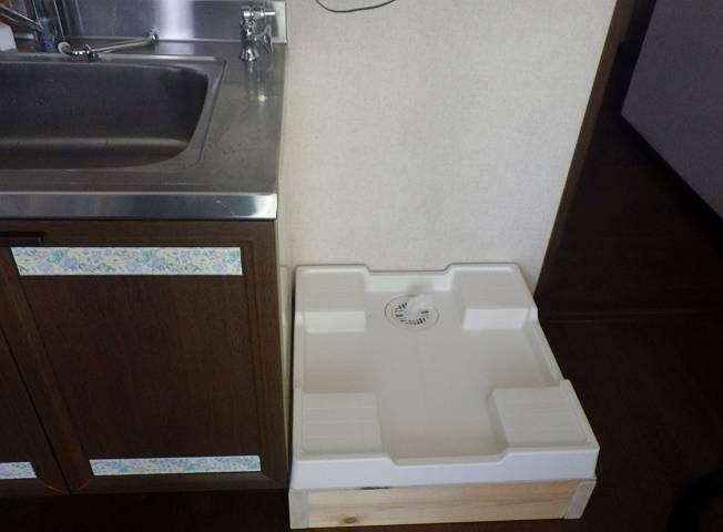 北名古屋市 洗濯機パン他取付工事完成2