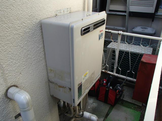名古屋市守山区 ガス給湯器取替工事 施工前