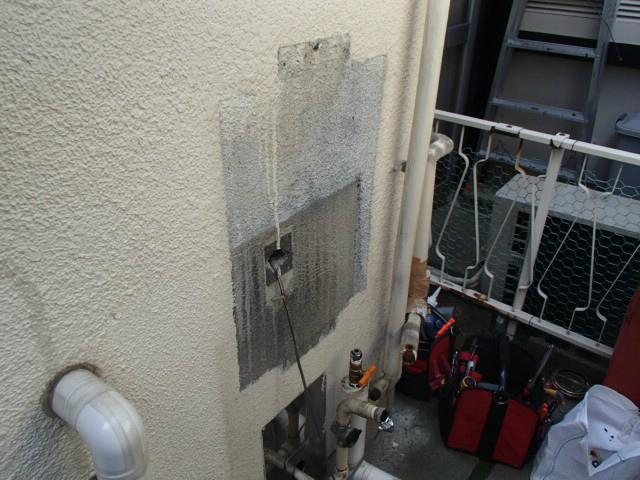 名古屋市守山区 ガス給湯器取替工事 撤去後