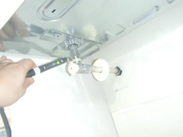 名古屋市緑区 ビルトインガスコンロ取替工事 ガス漏れチェック