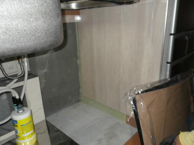 名古屋市中区 食洗機取替工事 施工中