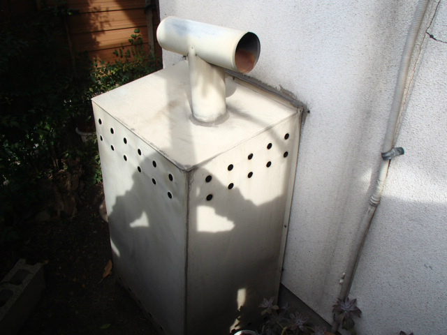 小牧市 ガス給湯器新設工事 施工前
