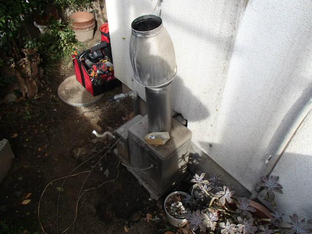 小牧市 ガス給湯器新設工事 撤去中