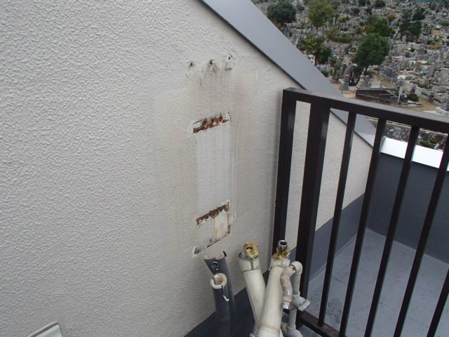 名古屋市天白区 ガス給湯器取替工事 撤去後