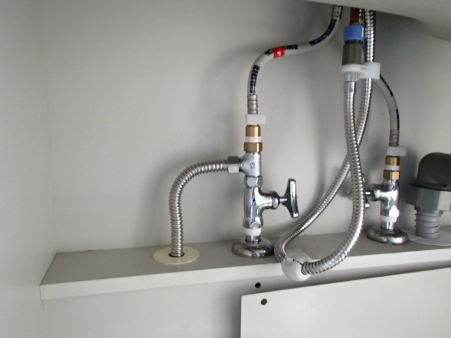 みよし市 ビルトイン食洗機新設工事 給水分岐
