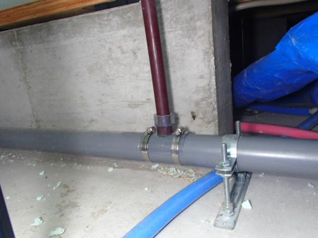 みよし市 ビルトイン食洗機新設工事 排水分岐