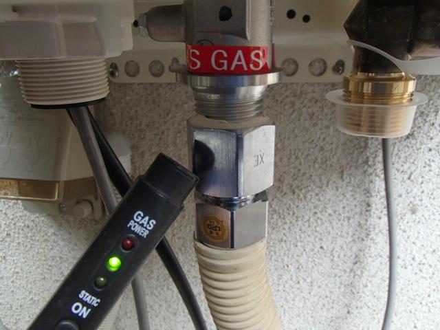 小牧市 ガス給湯器新設工事 ガス漏れチェック