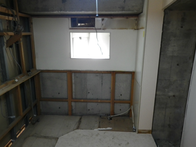 名古屋市昭和区 システムキッチン解体後