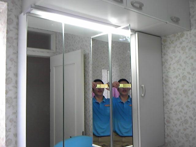 名古屋市緑区 洗面化粧台取替工事 完了 3面鏡LED