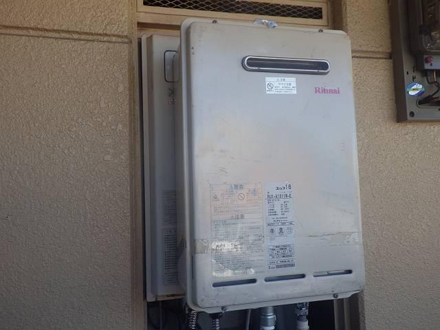 名古屋市熱田区 ガス給湯器取替工事 施工前