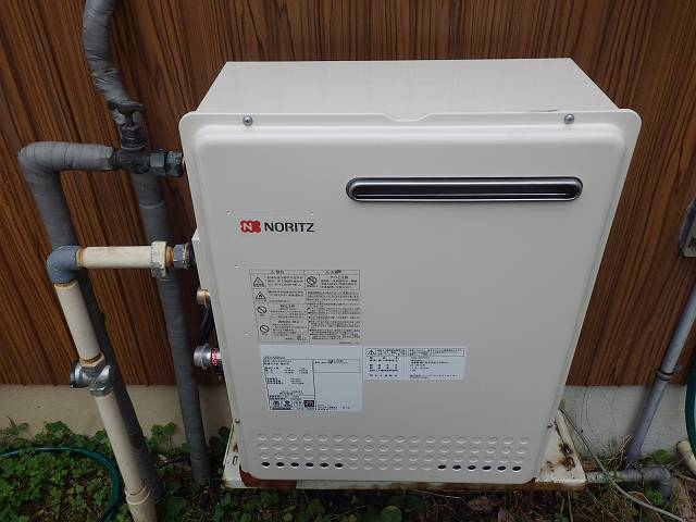 名古屋市南区 ガスふろ給湯器取替工事 施工中