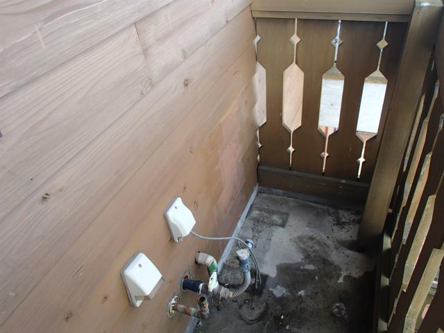 ガス給湯器取替工事(名古屋市昭和区)撤去後