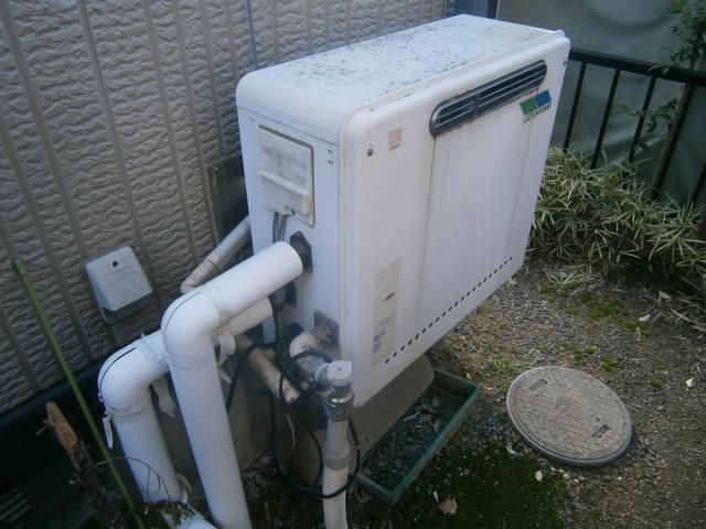 長久手市 ガス給湯器取替工事 施工前