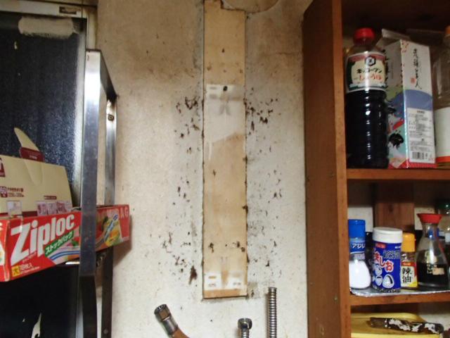 ガス瞬間湯沸し器取替工事(春日井市) 撤去後