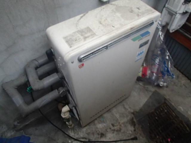 ガス給湯器浴室シャワー水栓同時取替工事(名古屋市昭和区) 施工前