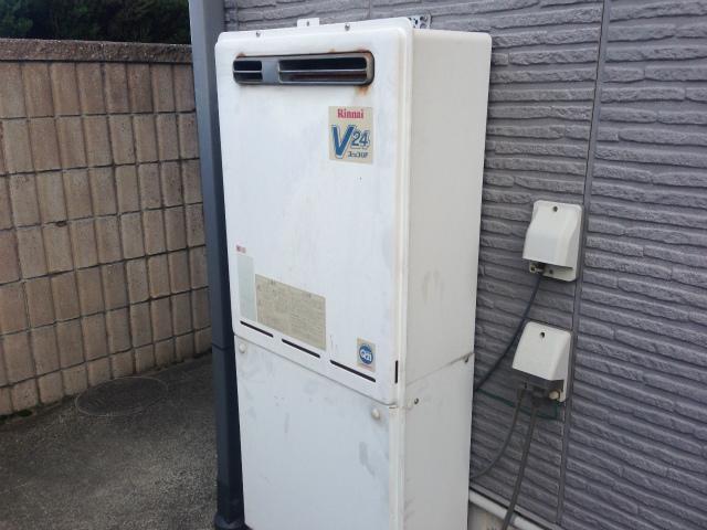 ガスふろ給湯器取替工事(愛知県西尾市) 施工前
