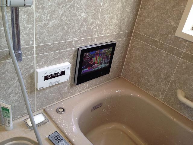 名古屋市名東区K様邸 浴室テレビ取替工事 施工事例 完成ノーリツYTVD1203W-RC