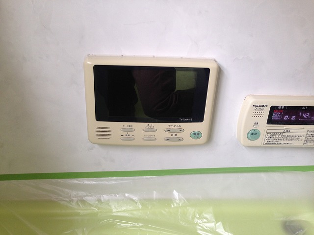愛知県西尾市浴室テレビ取替工事 施工事例 施工前