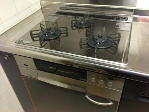 ガスコンロ+食洗機取替工事(名古屋市東区)施工後
