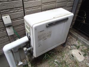ノーリツエコガス風呂給湯器取替工事(名古屋市瑞穂区)施工前