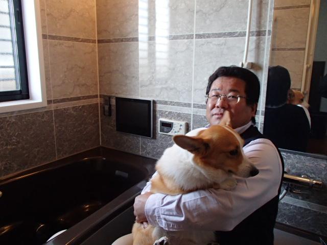 N様愛犬と共に