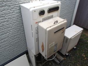 ノーリツエコジョーズガス温水暖房付ふろ給湯器取替工事(豊橋市)施工前