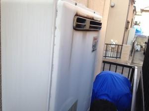名古屋市守山区 ガスふろ給湯器取替工事 施工事例 撤去前