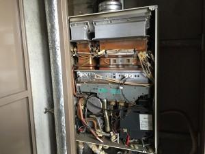 ガスふろ給湯器 取替工事 施工事例 撤去前