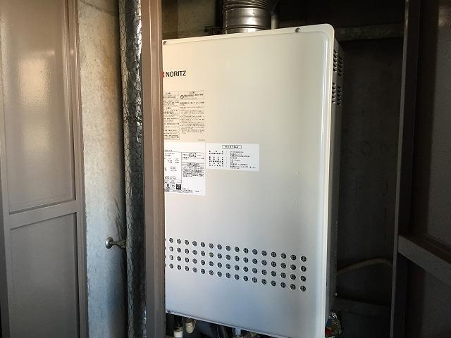 ガスふろ給湯器 取替工事 施工事例 完成GT-1651SAWX-FFA