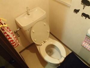INAXトイレ取替工事(名古屋市守山区御膳洞)施工前