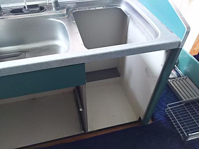 パナソニックビルトイン食洗機取替工事浜松市南区 撤去後