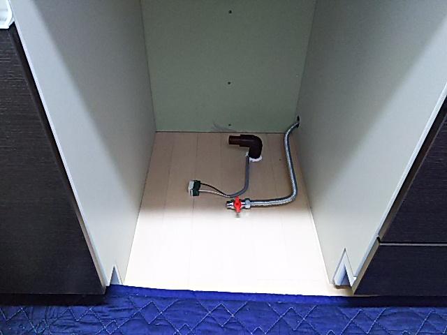 食洗機用電源、給水、排水