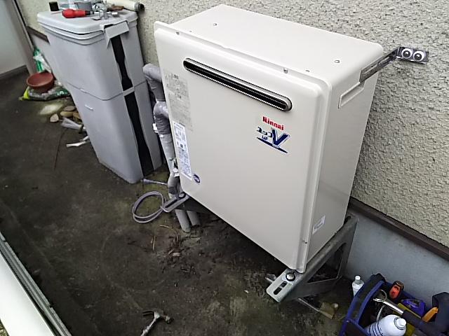 豊橋市据置型設置給湯器取替工事 本体設置完了後