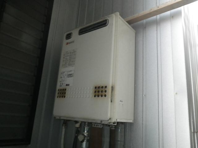 名古屋市東区高所給湯器取替 取替施工前。