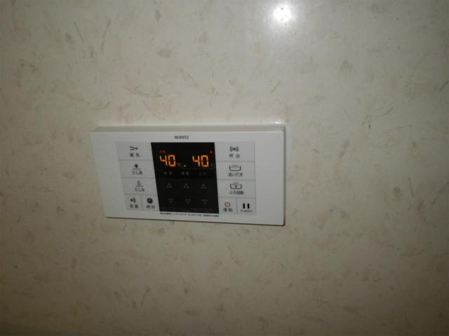 名古屋市東区高所給湯器取替 浴室リモコン取替完了後。