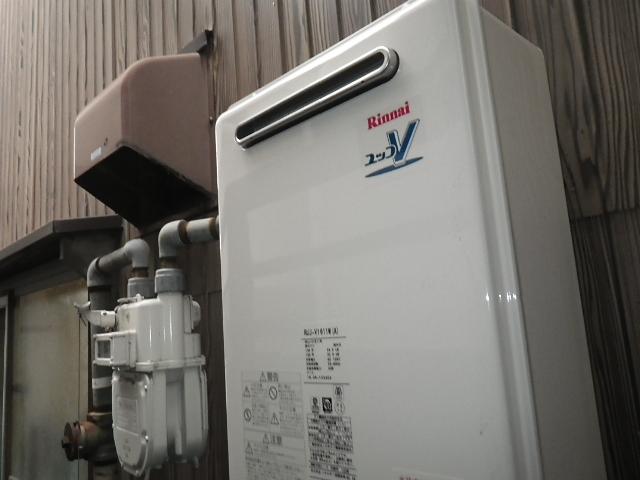 高温差し湯ガス給湯器取替工事 本体設置完了後。