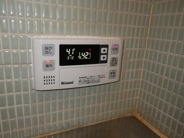 高温差し湯ガス給湯器取替工事 浴室リモコン取替完了後。