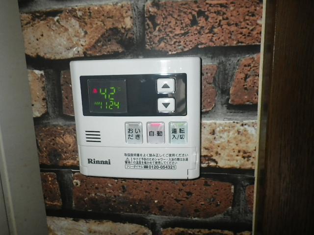 PS扉内設置ガス給湯器取替工事 台所リモコン取替完了後。