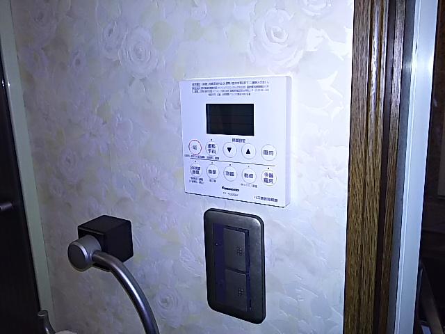 浴室換気乾燥機新規設置工事 操作リモコン取付完了後。