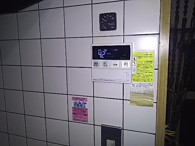据置型エコジョーズ取替工事 台所リモコン取替完了後。