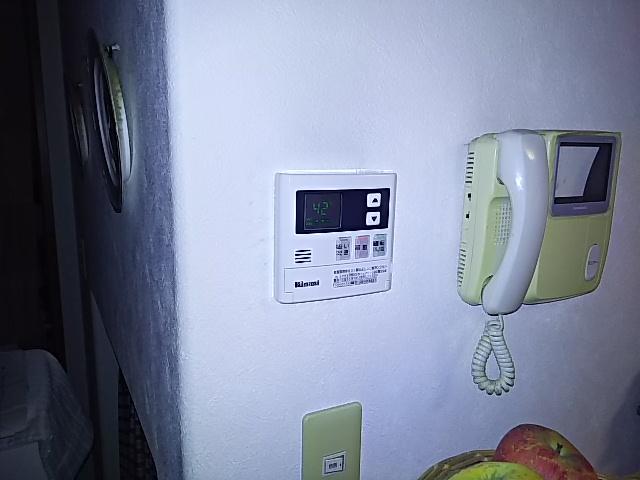 ガス給湯器工事 台所リモコン取替完了後
