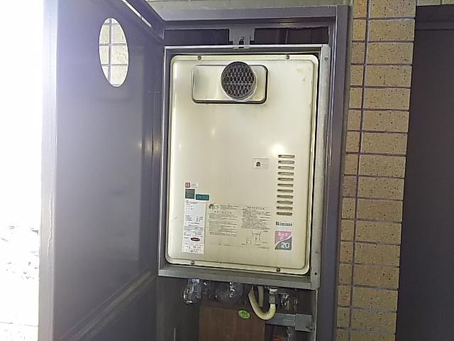 PS扉内設置型ガス給湯器取替工事 取替施工前