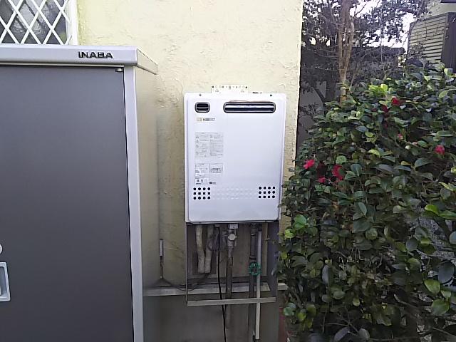ガス給湯器取替工事 取替施工前。