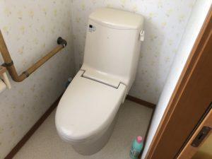 既設のトイレ タンクウォシュレット一体型